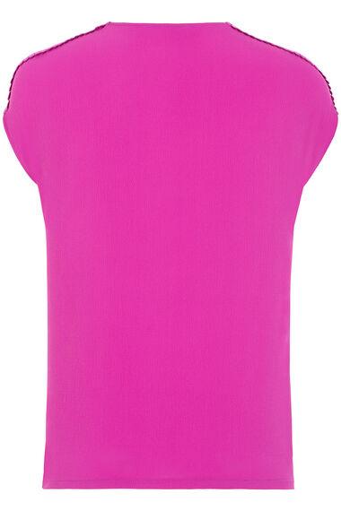 Lace Trim Bubble Hem Top