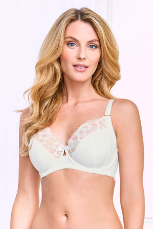 Fuller Bust Embroidered Underwired Bra