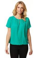 Blouse With Keyhole And Button Design