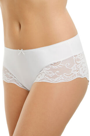 Lace Leg Trim Microfibre Brief