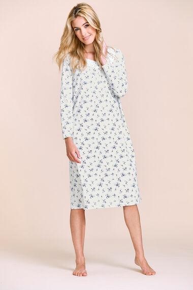 Long Sleeve Floral Nightdress