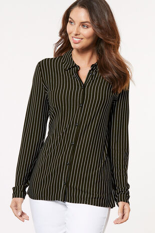 Narrow Stripe Jersey Shirt