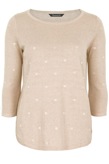 Spot Embroidered  Cotton Mix Jumper