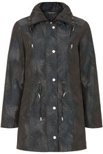 Metallic Palm Print Parka