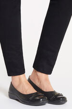 Cushion Walk Slip On Shoe with Buckle Detail