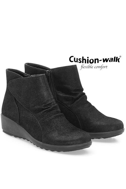 Cushion Walk Touch Fasten Ankle Boot