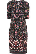 Symmetric Print Tunic Dress