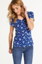 Ditsy Floral Scoop Neck Top