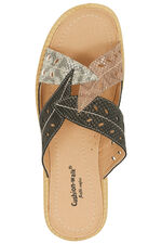 Cushion Walk Leaf Design Slip On Sandal