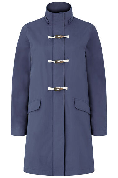 Longline Waterproof Coat with Toggle