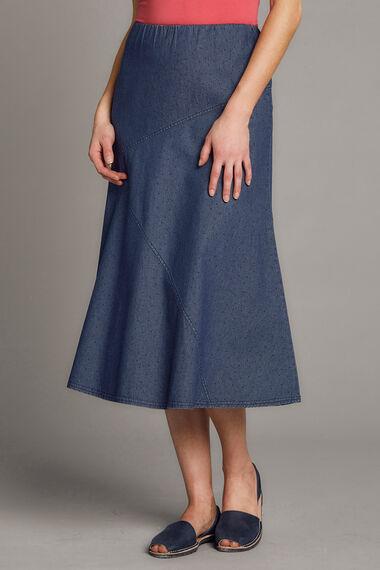 Spot Chambray Skirt