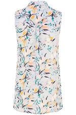 Abstract Print Sleeveless Shirt