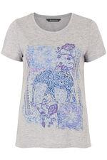 Placement Elephant Print T-Shirt