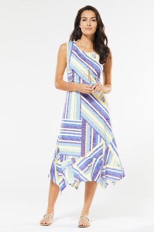 Cutabout Burnout Hanky Hem Dress