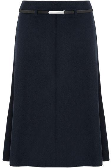 Belted Navy Skirt