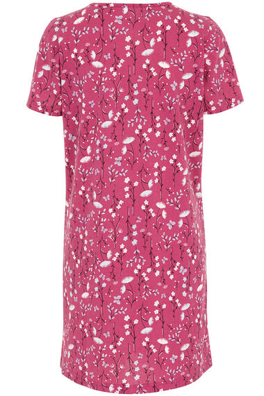 Floral Square Neck Nightshirt