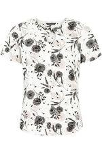 Floral Printed Twist Neck Top