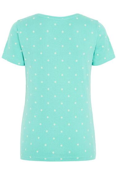 Printed Notch Neck T-Shirt