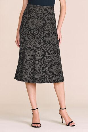 Jacquard Ponte Skirt