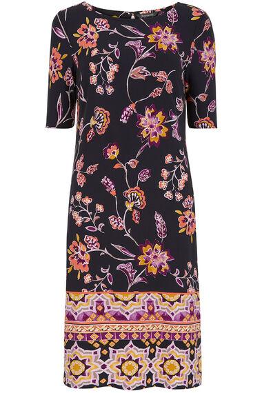 Border Print Tunic Dress