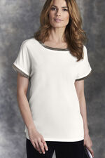 Beaded Woven Front Top