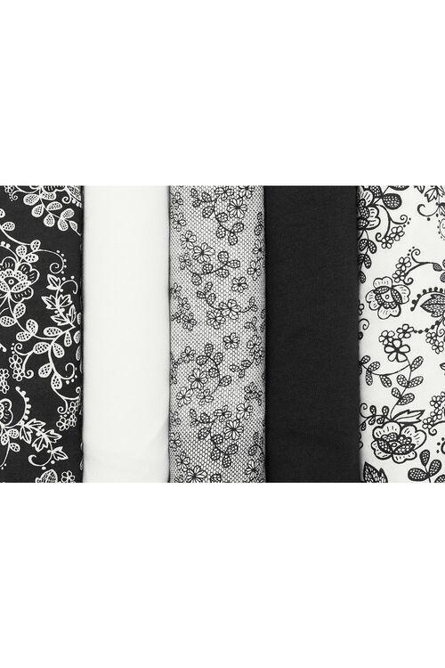 5 Pack Lace Print Briefs