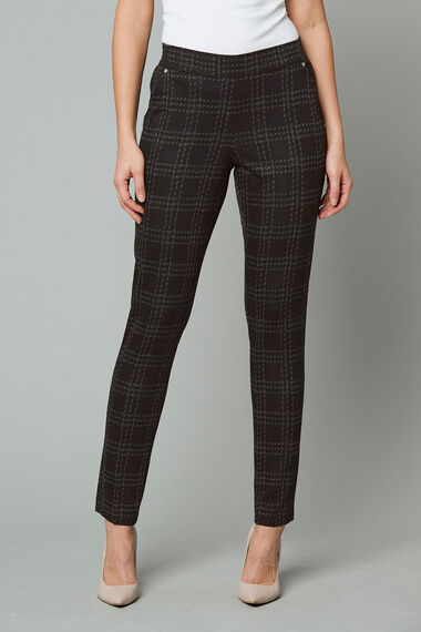 Check Ponte Tapered Trousers