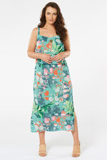 Tropical Double Layer Maxi Dress