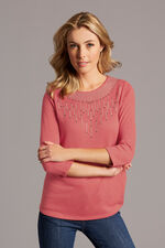 Knitted Top With Embellishment Detail