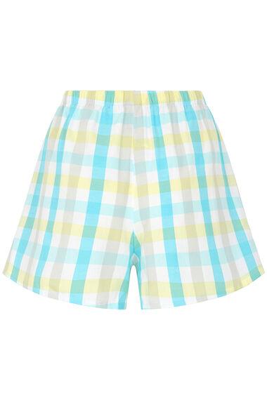Aqua Check Cami and Short Set