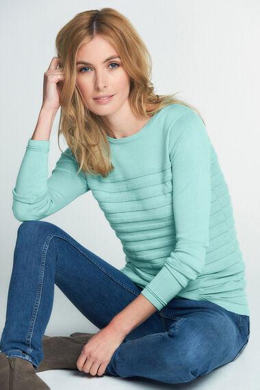 Ripple Pointelle Sweater