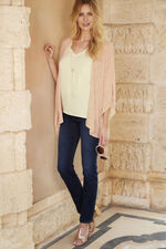 3 in 1 Metallic Top With Vest And Necklace