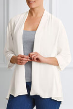 3/4 Sleeve Woven Cover Up
