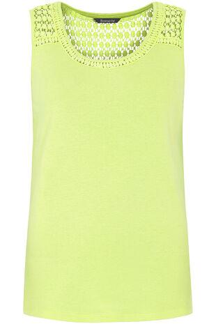 Lace Shoulder Scoop Vest