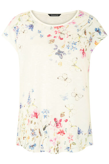 Trailing Floral Butterfly Print Top
