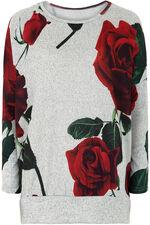 Stella Morgan Rose Print Soft Touch Sweater
