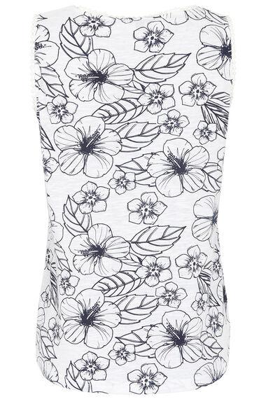 Linear Print Vest