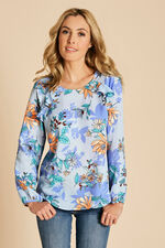 Printed Blouse With Frill Detail