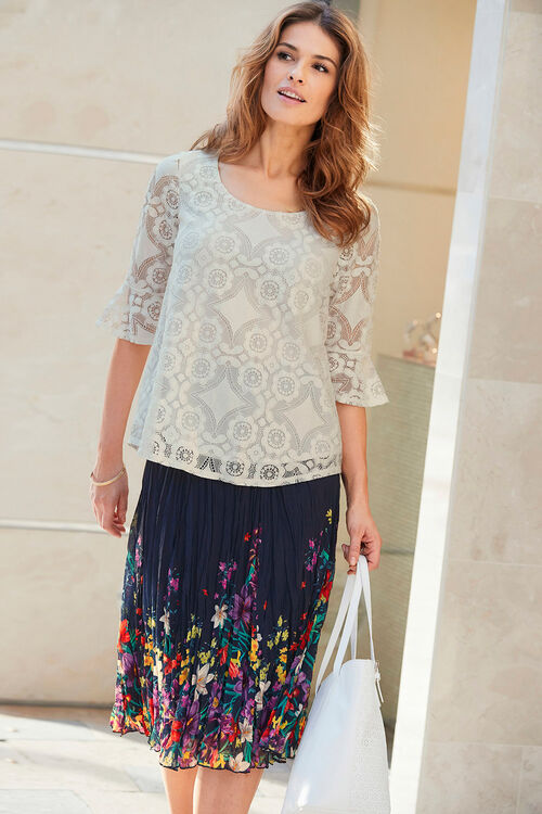 Lace Blouse with Frill Sleeve