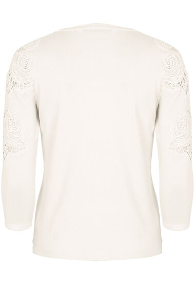 Lace Shoulder Cardigan