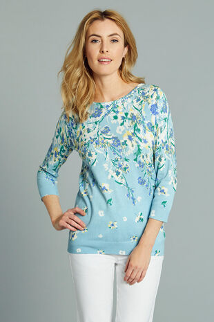Trailing Floral Printed Jumper