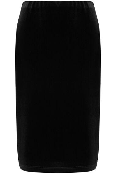 Velour Pencil Skirt