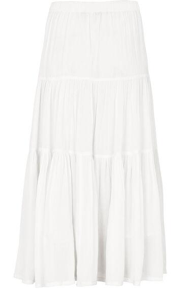 Crinkle Tiered Skirt