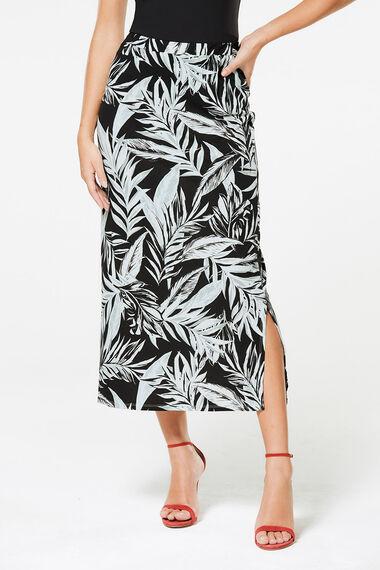 Tropical Print Tube Skirt