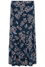 Leaf Print Cut About Skirt