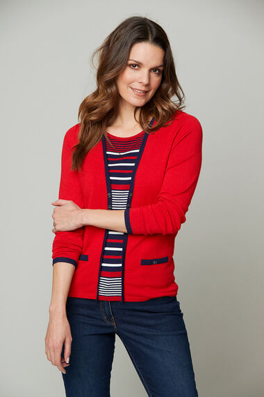 Mock 2 in 1 Cardigan