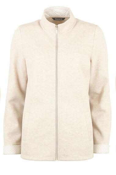 Brushed Back Zip Through Jacket