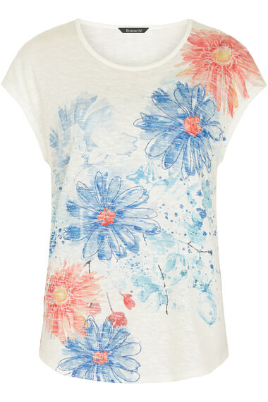 Floral Placement Print Snit Sweat