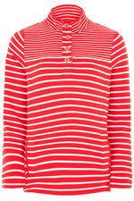 Stripe Funnel Neck