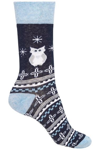 3 Pack Owl Printed Sock